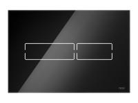 TECElux mini. Электронная панель смыва, стекло, черная