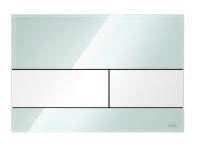 TECEsquare. Панель смыва, cтекло зеленое, клавиши белые