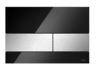 TECEsquare. Панель смыва, стекло черное, клавиши шлифованная нерж. сталь