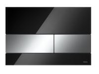 TECEsquare. Панель смыва, стекло черное, клавиши хром глянцевый