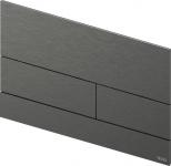 TECEsquare II. Панель смыва,  металл, PVD Brushed Black Chrome