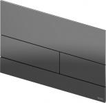 TECEsquare II. Панель смыва,  металл, PVD Polished Black Chrome