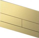 TECEsquare II. Панель смыва,  металл, PVD Brushed Gold Optic