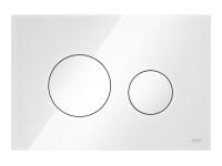 ТЕСЕ панель смыва TECEloop стекло белое, клав. белые.