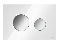 ТЕСЕ панель смыва TECEloop стекло белое, клав. хром глянцевый