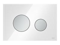 ТЕСЕ панель смыва TECEloop стекло белое, клав. хром матовый