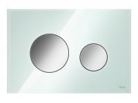 ТЕСЕ панель смыва TECEloop стекло зеленое, клав.  хром глянц.