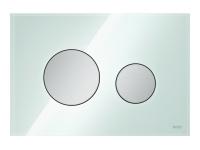 ТЕСЕ панель смыва TECEloop стекло зеленое, клав.  хром мат.
