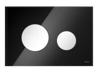 ТЕСЕ панель смыва TECEloop стекло черное, клав. белые.