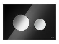 ТЕСЕ панель смыва TECEloop стекло черное, клав. хром глянц.