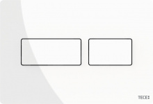TECEsolid. Панель смыва, металл, белая глянцевая