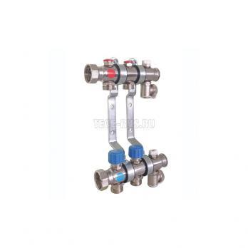 """ТЕСЕ Коллектор для систем отопления с термостатическими клапанами в сборе, 1"""" х 3/4"""", 8 контуров"""