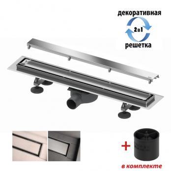 TECElinus. Комплект для монтажа дренажного канала, 700 мм, 2 в 1 ( tile +  steel), с мембраной