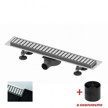 TECElinus. Комплект для монтажа дренажного канала, 700 мм, с решеткой straight, с мембраной
