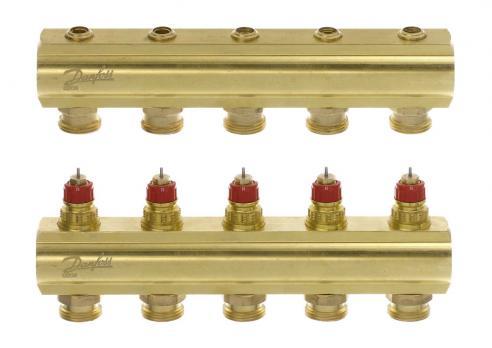 DANFOSS Коллекторы FHF-6 для 6 контуров