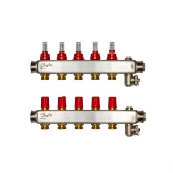 DANFOSS Коллекторы  SSM-4F с расходомерами, 4 контура