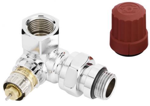 DANFOSS Трехосевой клапан RA-NCX для подключения справа, хромированный