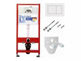 TECE Комплект для установки подвесного унитаза: пластиковая панель смываTECEnow, белая