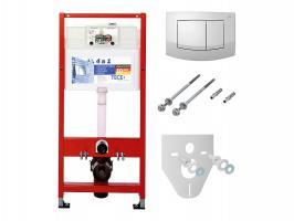 TECE Комплект для установки подвесного унитаза: пластиковая панель смываTECEambia, белая