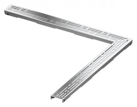 "TECE Реш. угл. ""basic"", 900х900 мм, нерж. сталь, пол."