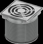 TECE Базовая решетка 100 х 100 мм с монтажным элементом, сталь