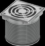 TECE Базовая решетка 100 х 100 мм с фиксаторами, с монтажным элементом, сталь