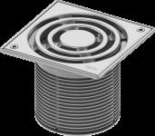 TECE Базовая решетка 150 х 150 мм с фиксаторами, с монтажным элементом, сталь