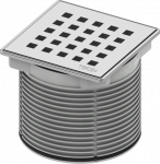 TECE Декоративная решетка quadratum 100 х 100 м с монтажым элементом, сталь