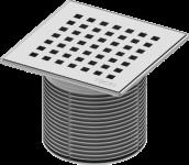 TECE Декоративная решетка quadratum 150 х 150 м с монтажым элементом, сталь