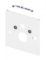 TECE Нижняя панель lux для установки унитаза с крышкой биде, стекло черное