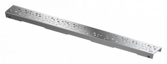 """Решетка """"drops"""", 1500 мм, нерж. сталь, полир."""