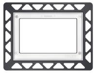 ТЕСЕ Монтажная рамка для установки стеклянных панелей TECEloop или TECEsquare на уровне стены белый