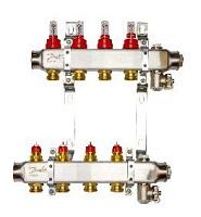 DANFOSS Комплект коллекторов SSM-2F с расходомерами и кронштейнами, 2 контура
